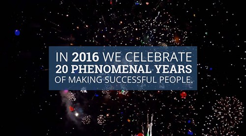 Celebrating 20 phenomenal years of making successful people